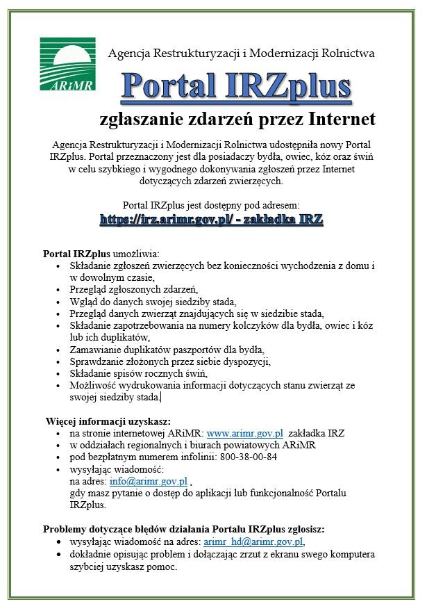 Portal IRZplus