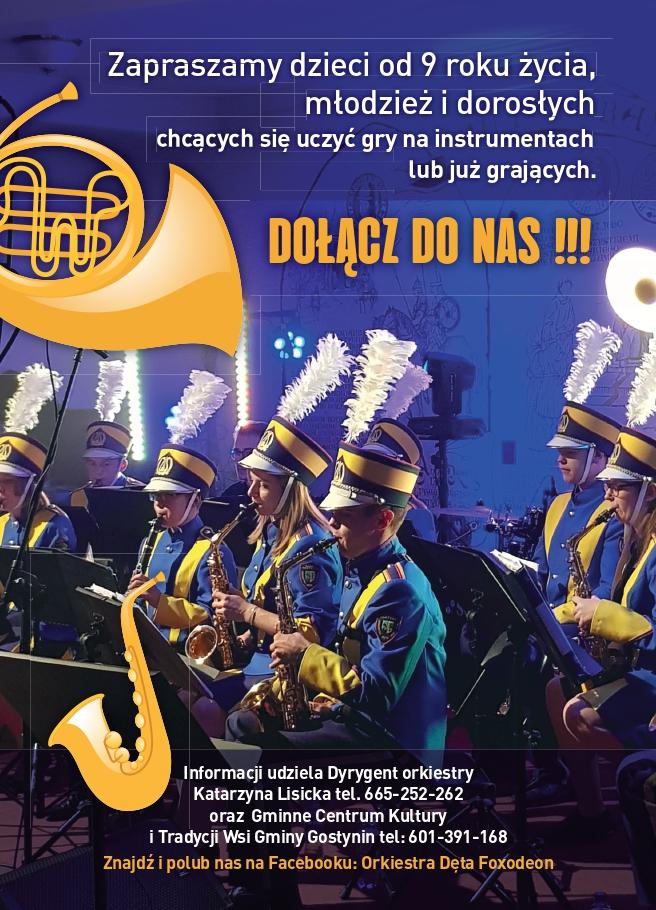 Nabór do Gminnej Orkiestry Dętej Foxodeon