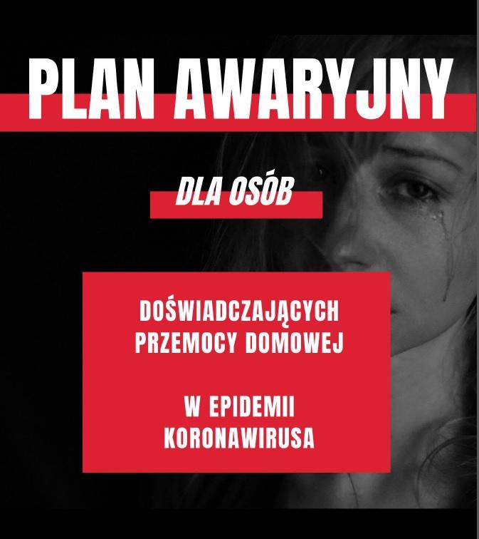 Plan awaryjny dla osób doświadczających przemocy domowej w epidemii koronowirusa