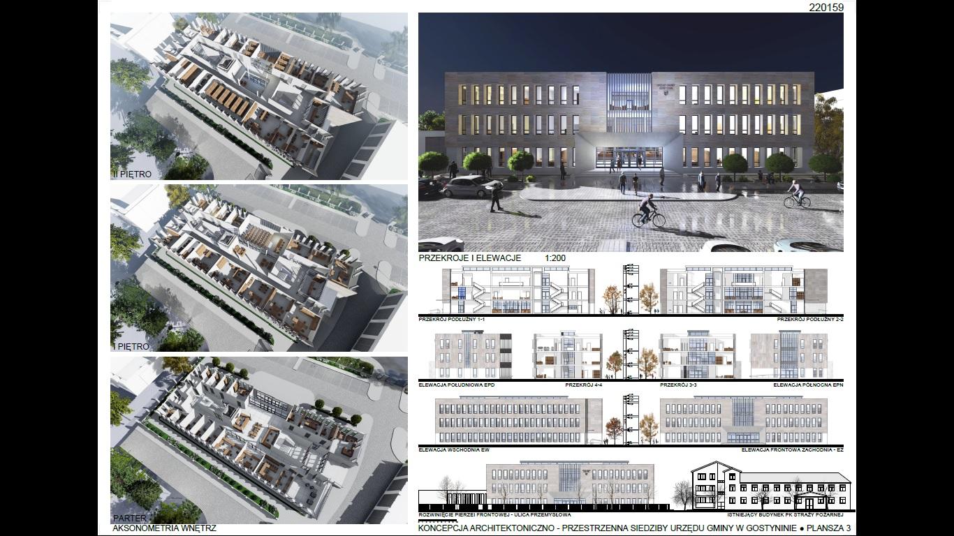 Przedstawiamy wstępną koncepcję siedziby Urzędu Gminy Gostynin