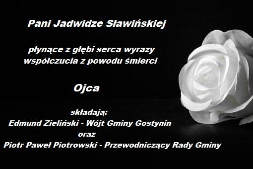 kondolencję p Jadwiga